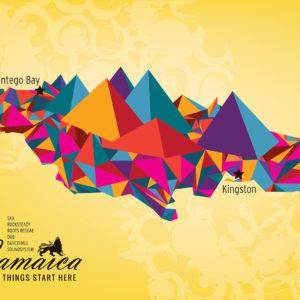 Jamaica Map by Maria Papaefstathiou